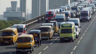 Ford Transit van convoy