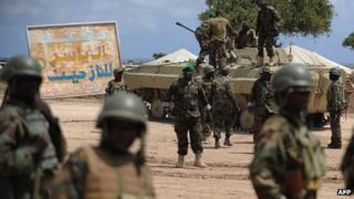 Ugandan troops in Somalia (file photo)