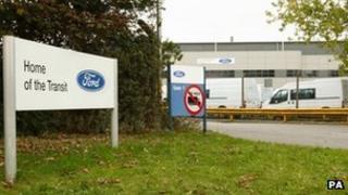 Transit factory in Southampton