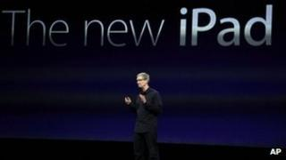 Tim Cook announcing the new iPad in March 2012
