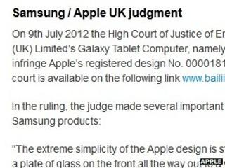 Screen grab of Apple statement