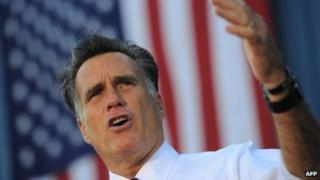 Republican presidential candidate Mitt Romney in Worthington, Ohio 25 October 2012
