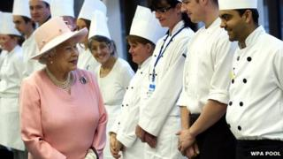 The Queen at Drapers' Academy