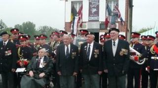 Jersey veterans at Cafe Gondree