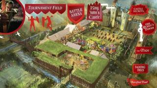 Designers' impression of Robin Hood attraction
