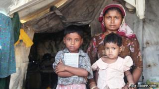 Displaced Muslim family in Rakhine state (Photo by Joe Cropp/IFRC)
