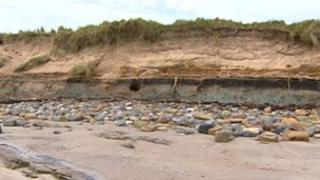 Druridge Bay sandbank