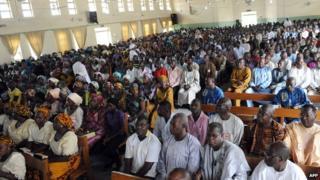 Christian worshippers in Maiduguri, Nigeria - 2012