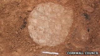 A slate disc found at the site