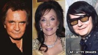 Johnny Cash, Loretta Lynn and Roy Orbison
