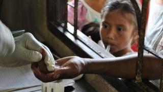 Thai villagers near Burma's border