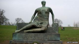 Draped Seated Woman by Henry Moore at Yorkshire Sculpture Park