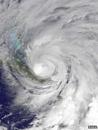 Satellite image of Hurricane Sandy (Image: Nasa)