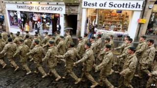 3rd Battalion The Rifles march through Edinburgh
