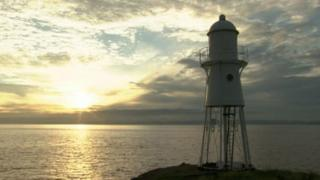 Blacknore Point Lighthouse in Portishead