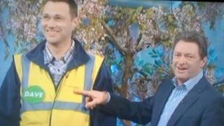David Baker appearing on Gardener's World with Alan Titchmarsh
