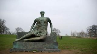 Henry Moore sculpture Draped Seated Woman