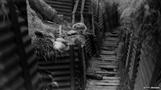World War I trench