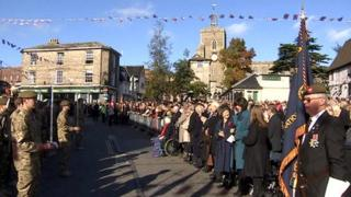 Freedom of Diss parade by Royal Anglians