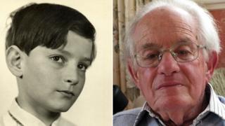 Edgar as a boy and an old man