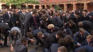 Wellington College pupils