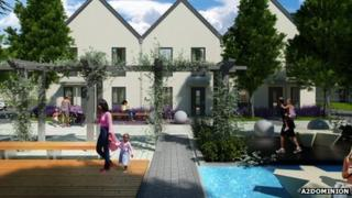 An artist's impression of how North West Bicester might look