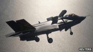 An F-35 fighter jet