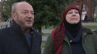 Yvonne Ridley and George Galloway