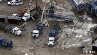 Oil fracking operation in North Dakota