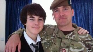 Captain Walter Barrie with his son, Callum