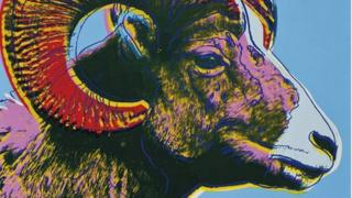 Endangered Species: Bighorn Ram by Warhol