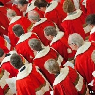 House of Lords, Lords in ceremonial robes