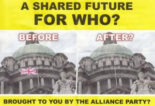 Flag leafet distributed by DUP and UUP activists
