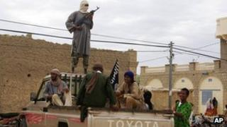 Islamist fighters in Timbuktu, Mali, in August 2012