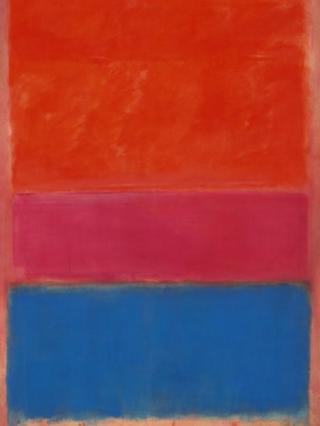 Rothko's No 1 (Royal Red and Blue) - detail