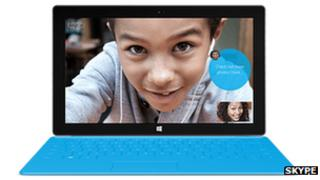 Skype on Surface computer