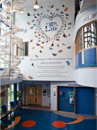 The hospital artwork