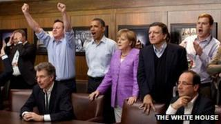 World leaders at G8 Summit in Camp David last year