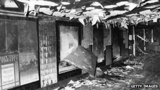 The ticket hall after the fire