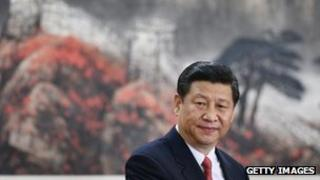 Xi Jinping delivers a speech in front of journalists at the Great Hall of the People in Beijing, 15 Nov 2012