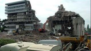 Demolition of the BBC's Pebble Mill studios