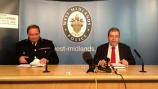 Chief Constable Chris Sims sits alongside PCC Bob Jones