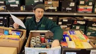 Volunteer at a food bank
