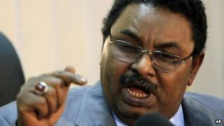Sudan's ex-spy chief Salah Gosh (archive shot)
