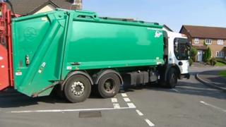 Council recycling truck