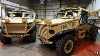 Foxhound armoured vehicle
