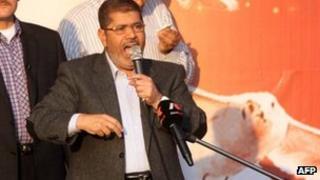 Egyptian President Mohammed Mursi in Cairo (23 Nov 2012)