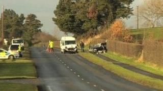 Scene of Desertmartin crash