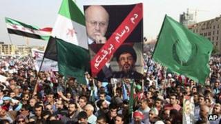 anti-Syria protesters in Beirut