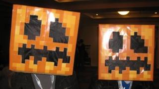 Minecraft pumpkin heads